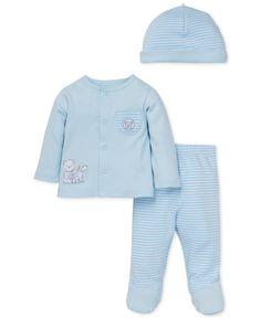 Little Me Baby Boys' 3-Pc. Gentle Friends Hat, Jacket & Footed Pants Set