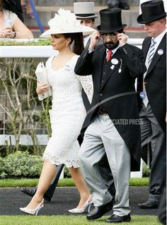 Princess Haya Bint Al Hussein of Jordan, Sheikha of Dubai, June 21, 2013   The Royal Hats Blog-with her husband Sheikh Mohammed