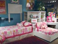 Corner Unit Bed Sets   15-piece collection from Ashley features a four-piece corner bed unit ...