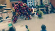 The punch..  #hulkbuster #ironman #lego #avengers #ageofultron #legohulkbuster #legoironman