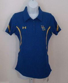 Womens Under Armour Delaware Blue Hens Protect This House Golf Polo Shirt Small