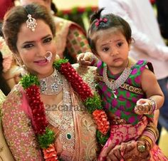 Big fat Telugu wedding-Indian Jewellery Designs: Lakshmi Manchu and her Daughter Jewelry Wedding Jewellery Designs, Indian Jewellery Design, Indian Jewelry, Latest Jewellery, Wedding Jewelry, Telugu Wedding, Saree Wedding, Wedding Bride, Wedding Venues
