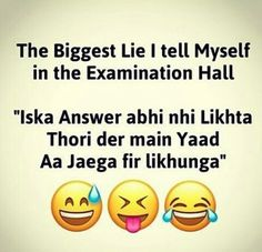 Mai hoon hi aisi funny school jokes, exams funny, funny jokes Best Friend Quotes Funny, Cute Funny Quotes, Funny Quotes For Teens, Girly Quotes, Funny Quotes About Life, Best Quotes, Hindi Quotes, Funny Life, Fun Quotes