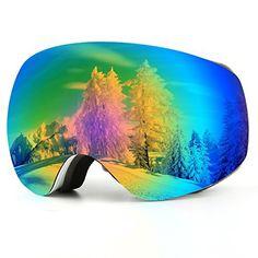 Kasliny Lunettes de Ski, Masque de Ski pour Homme, Femme et Enfants,  Lunettes de Soleil à Double lentille OTG pour Le Ski, snowboaring,  motoneige, ... c73c4ef82d9e