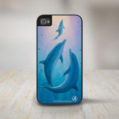 "beach themed iphone 5 cases ""Dolphin Dream"" 3 Dolphins, Dolphin iPhone 5 Case, iPhone 5s Case Protective Phone Cases  #David Miller #iPhone 5 Phone Case #iPhone 5s Phone Case #Phone Case beach themed iphone 5 cases"