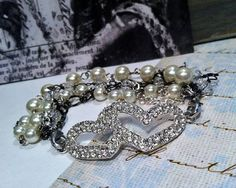 Bracelet Double Heart.. Double Sparkle by RachelsOriginalGifts, $25.00 ~ Jewelry So Adorable It's ADORNable  TO ORDER: Please visit my FB and/or Etsy pages at the following links!  www.facebook.com/RachelsOriginals  www.rachelsoriginalgifts.etsy.com