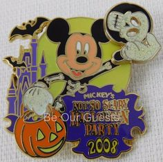 Disney Not So Scary Halloween Party 2008 Mickey Mouse Pin New