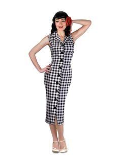 Vintage Pencil Dress, 50s Vintage, Gingham, Must Haves, Peplum Dress, Dresses For Work, Retro, Cardigans, Website