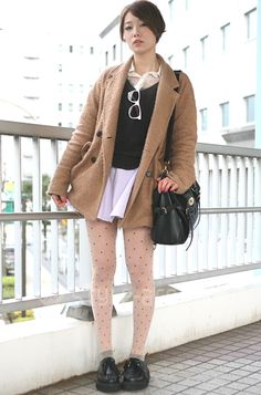 Japanese street style ft. #AmericanApparel - Find Hundreds of Top Online Womens Wear Stores via http://AmericasMall.com/categories/womens-wear.html