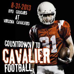 UVA Cavaliers Football stars 8-31-2013! See Virginia play the BYU Cougars! #uva #cavs #sabre #football #ncaa