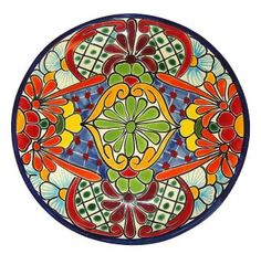 Colorful Talavera Plate