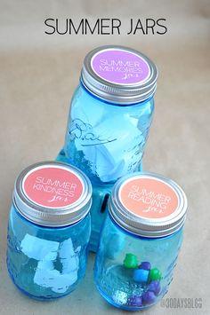 Kids Summer Jar Ideas + Printable