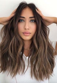Popular hair color balayage brown color hot salon hairstyle