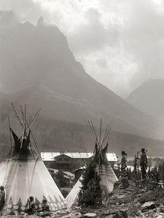 Glacier National Park, Montana, Indian Tee Pee's Late 1800s