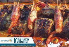 Hoy te mostramos unos de los guisos-asados de pescado de nuestra carta como es nuestra Merluza Rellena ¡ mira que pinta tiene ! ¿apetece? Reservas 9683830777
