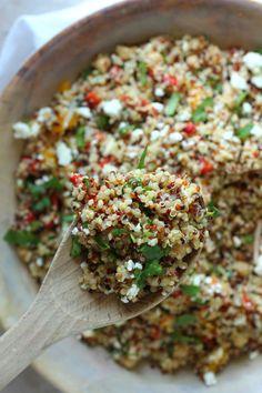 Healthy Quinoa and Feta Cheese Summer Salad