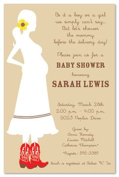 cutest shower invitations ever do something similar for jamieu0027s shower western baby