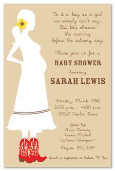 Cutest shower invitations ever!  Do something similar for Jamie's shower??