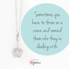 Always wear your invisible crown! The most beautiful attribute you can own is your confidence. 👑