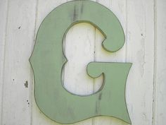 Shabby chic Wooden Wedding Decor Letter G 18 inch by LettersofWood, $42.00