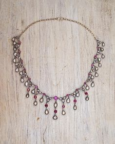Ruby Necklace, Necklace Price, Gemstone Necklace, Beaded Necklace, Uncut Diamond, Rose Cut Diamond, Handmade Necklaces, Silver Necklaces, 1 Piece