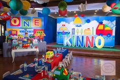 Kinno's Transportation Themed Party – Stage backdrop