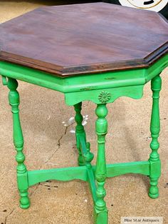 green table but darker green with lace patter on top