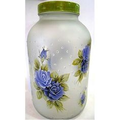 Arts And Crafts Ideas For Toddlers Wine Bottle Art, Diy Bottle, Wine Bottle Crafts, Crafts With Glass Jars, Mason Jar Crafts, Decoupage Jars, Mason Jar Projects, Pottery Painting Designs, Jar Art