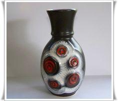 Vintage 70er Bay Keramik Vase Bubbles  von OberSchick - Vintage auf DaWanda.com