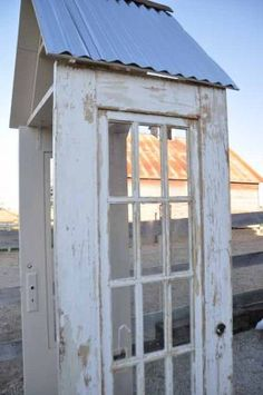 garden arbor from old doors or maybe a small storage shed via Counting Your Blessings Blog