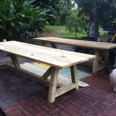 The Design Confidential Builders Showcase // Ken's Double Set of Provence Beam Dining Tables