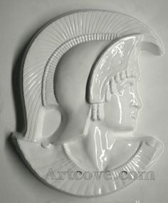 Roman Solider Right Plaster Mold 6-1/2 x 7-3/4 Inch. Mix plaster of paris with water and pour into mold. Let the plaster harden. Now paint your finished mold with acrylic paints.