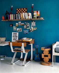 petrol blue De kleur die ik op een van de muren wil verven