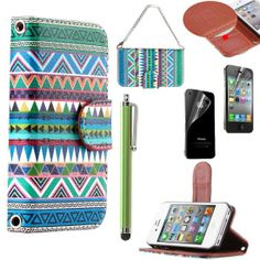 Pandamimi ULAK(TM) Luxury Fashion PU Leather Magnet Wallet Creadit Card Holder Flip Case Cover for Apple iPhone 4 4G 4S with Screen Protector and Stylus (Tribe Green)Roundup of Adorable #iPhone #Covers http://www.webdesign.org/roundup-of-adorable-iphone-covers.22416.html