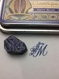 """Hand carved stamp  """"M"""""""