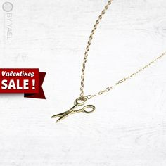 Valentines Day SALE! 10% off on every item at the store!  +FREE fast shipping for every order over 100$ with the coupon code: FREEOVER100    Scissor necklace, gold scissor charm, hair stylist gift, gift under 50, dainty necklace necklace, everyday necklace, gold necklace, 14K gold  ___________________________________________________________________________     Scissor necklace, unique and delicate scissors pendant, hang on 18K gold filled chain.   Yung and fun style, perfect gift for hair…
