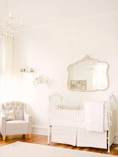 Baby Hadley's nursery is the epitome of serenity and elegance.