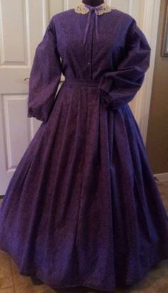 Ladies Prairie Civil War Day Gown Reenacting by LoneStarGenealogy $80