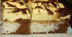 A légínycsiklandóbb krémes finomság, amit el tudsz képzelni! Meg kell kóstolni, mert ezt nem lehet eleget dicsérni! Hozzávalók Tészta: 4 tojás fehérjét,4 e.k. cukorral habbá verni, hozzáadni a 4 tojássárgáját egyenként, 2 e.k. kakaó... Hungarian Recipes, Cakes And More, Fun Desserts, Tiramisu, Cake Recipes, Bacon, Cheesecake, Deserts, Muffin