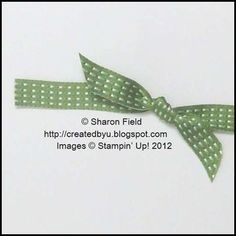 tug gently on the cut ends to form your knotted ribbon bow