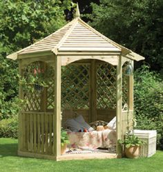 Since the regency era, a gazebo in the garden has been quite a fashionable statement for the décor of the house. But there is more to a gazebo. Yes a gazebo Small Gazebo, White Gazebo, Diy Gazebo, Wooden Gazebo, Backyard Gazebo, Gazebo Ideas, Backyard Ideas, Garden Ideas, Round Gazebo