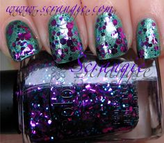 Add some gold and these are mardi gras magnificent. check out www.MyNailPolishObsession.com for more nail art ideas.