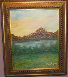 Sunset landscape original oil painting size 16x20 signed by Artist N McCafferty  100.00 http://www.ebay.com/itm/Sunset-landscape-original-oil-painting-size-16x20-signed-by-Artist-N-McCafferty-/231506183806?