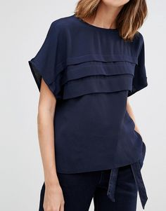 Image 3 of Warehouse Pleated Top