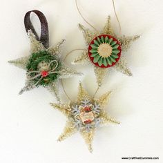 Sisal Snowflake Ornament featuring Krylon Glitter Spray | Craft Test Dummies