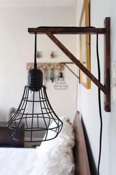 lampes de chevet, appliques cages suspendues Plus