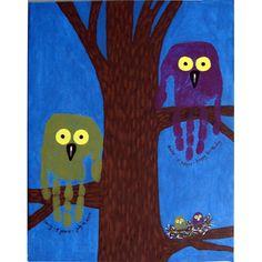 owl handprint art!