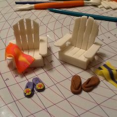 Fondant Beach Chairs accessories