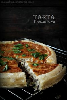 rustic kitchen - cooking at home: Mushroom Tart