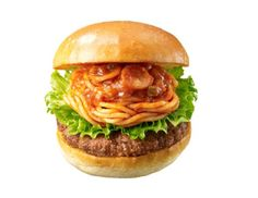 Japanese Fast Food Chain's Spaghetti Burger Is Either The Best Or Worst Idea Ever Worst Idea Ever, Spaghetti Noodles, Beef Patty, Fast Food Chains, Weird Food, Stuffed Green Peppers, Pulled Pork, Food Pictures, Stuffed Mushrooms